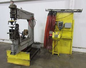 Rotary Welding System Lincoln Powerwave Rotary Positioner Used Am16245