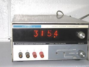 Rare Digitec 251a Platinum Resistance Thermometer Meter W Working Nixie Tubes
