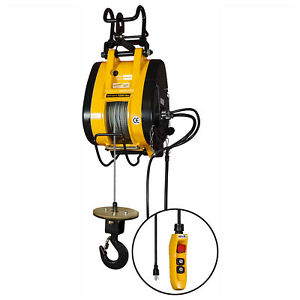 Oz Lifting Electric Wire Rope Hoist 1000 Lbs Cap Lot Of 1