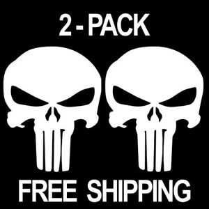 Skull Punisher Decal 2 Pack Die Cut Vinyl Graphic Sticker