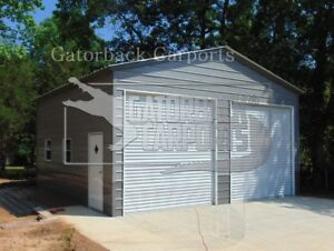 Pre fab Steel Building 24x31 Vertical Carports Garage Shops