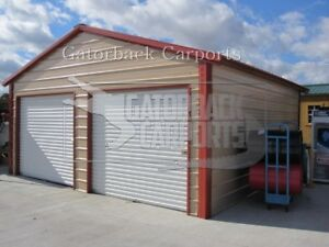 Metal Garage Steel Building 20x21 Free Delivery Installation Nation wide
