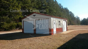Metal Garage Pre fab Steel Building Steel Garage Workshop Metal Building
