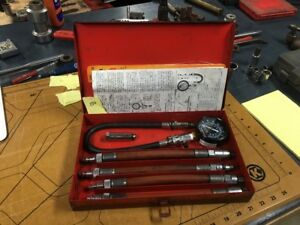 Snap On 0 250 Pound Gauge Compression Tester With Medal Case Metric 0150