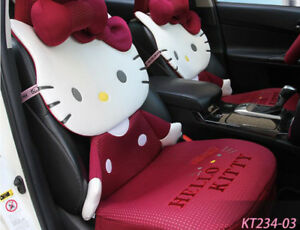 New Cartoon Hellokitty Car Seat Cover Girl Universal Seat Covers Rose Red Kt234