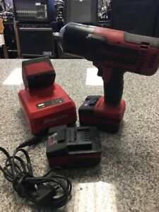 Snap on Ct8850 18v Cordless Impact With Three Batteries And Charger C y