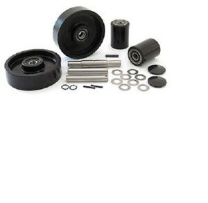 Wanmax W55 Pallet Jack Complete Wheel Kit includes All Parts Shown
