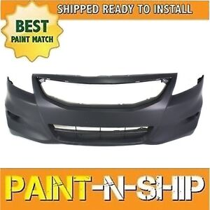 New Fits 2011 2012 Honda Accord Coupe W fog Holes Front Bumper Painted Ho1000277