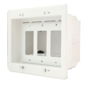 Arlington Dvfr3w 1 Recessed Electrical Outlet Mounting Box With Paintable Wal