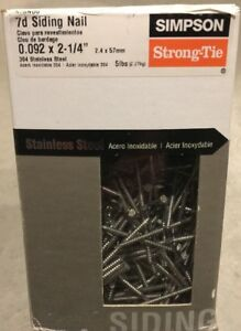 Simpson Strong Tie 7d X 2 1 4 Siding 304 Stainless Steel Siding Nails S7snd5