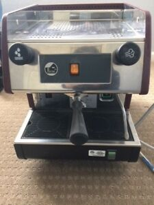 La Pavoni Espresso Machine Red Model Pub M1u Yr 2002 Made In Italy