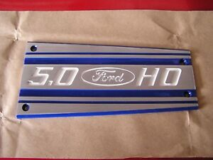 87 93 86 5 0 Ford Mustang Intake Manifold Plate Plaque Powder Coated