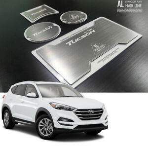 Aluminum Hairline Two Block Cup Holder Plate 4p Hyundai Tucson 2016 2017 2018