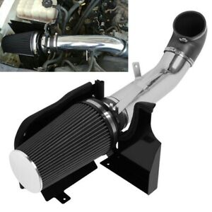 4 Heat Shield Cold Air Intake System filter Fit Gmc chevy V8 4 8 5 3 6 0l Black
