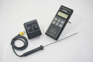 Omega Hh21 Digital Thermometer Type K J T W 6 Channel Extension probe Tested