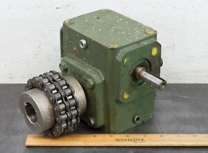 Ohio Gear B2175 Speed Reducer Gear Drive 10 1 Ratio