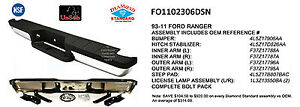 Replacement Step Bumper Assembly For 1998 2011 Ford Ranger rear Fo1102306dsn