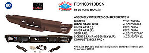 Replacement Step Bumper Assembly For 1993 2004 Ford Ranger rear Fo1103110dsn