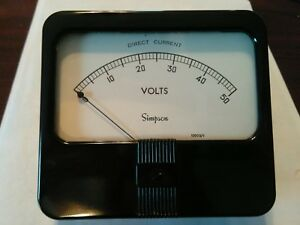 Model 29 Cat 7700 Simpson Analog Panel Meter