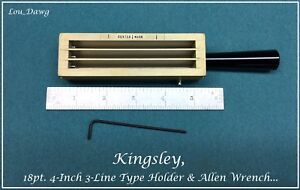 Kingsley Machine 18pt 4 inch 3 line Type Holder Hot Foil Stamping Machine