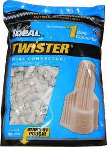 Ideal 30 641 22 To 8 Awg Winged Twister Wire Connector Tan Pack Of 500