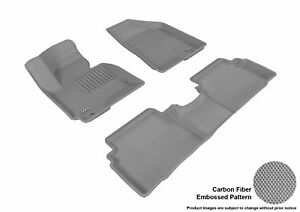 Fits 2010 2013 Hyundai Tucson Row 1 2 Carbon Pattern Gray Customize Floor Mat