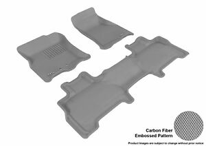 Fits 2011 2017 Lincoln Navigator Row 1 2 Carbon Pattern Gray Customize Floor Mat