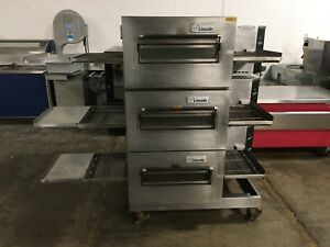 Lincoln Impinger Triple Stack Electric Conveyor Pizza Sub Oven Works Great