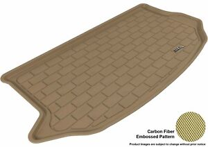 Fits 2010 2013 Kia Soul Cargo Liner Kagu Carbon Pattern Tan Customize Floor Mat