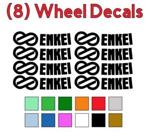 8 Enkei Logo Vinyl Decals Stickers For Gtc01 Pf01 Rpf1 Wheels Rims Free Shipping