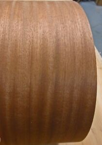 Sapele Ribbon Mahogany Wood Veneer Edgebanding 4 X 120 With Preglued Adhesive