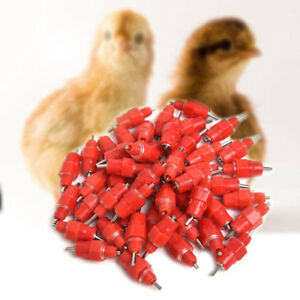 200pcs Water Nipple Chicken Feeders Drinker Poultry Feeding Water Supplier