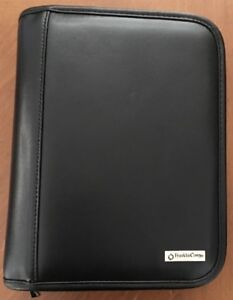 Franklin Covey Classic Planner Black Leather Zip Binder Not In Box 6 5x8 5