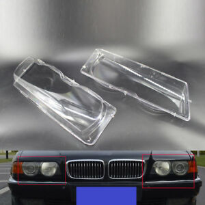 2pcs Headlight Lens Cover Fit For Bmw 7 Series E38 Facelift 99 01 Us Warehouse