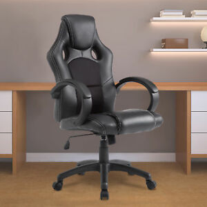 Executive Office Chair Pu Leather Swivel Computer Desk Seat High back Black