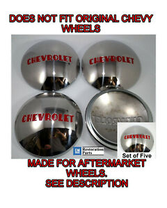 Chevrolet 1 2t Truck Hubcap Set 5 Stainless 1947 1953 fits Ford Wheel 1940 56