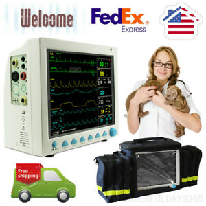 Veterinary Patient Monitor Icu Vital Signs Monitor handbag Us 2 Years Warranty
