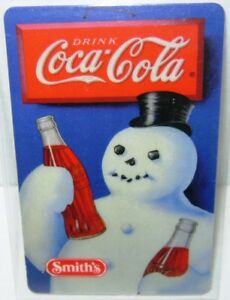 Snowman Coca Cola Phone Card 10 minutes WITH Smiths logo Coke Phone Home Free