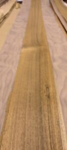 Teak Wood Veneer 5 X 114 Raw No Backing 1 20 Thickness Flexible Flitch Roll