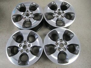 Set Of 4 Oem 18 2007 2018 Jeep Wrangler Machined Graphite Wheels Rims 9119