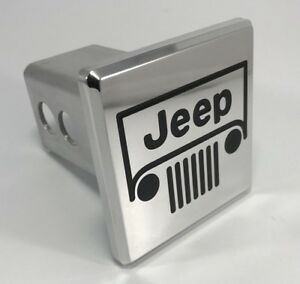 Hitch Cover W Jeep Logo Grille Emblem Chrome Black