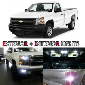 Led Exterior Package Kit Bulb Xenon White 8pc Fog License For 13 16 Ram 1500 R1