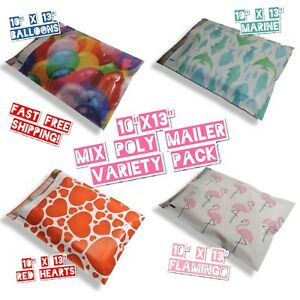 60 Mix Design Poly Mailers 10x13 Variety Pack 15 Ea