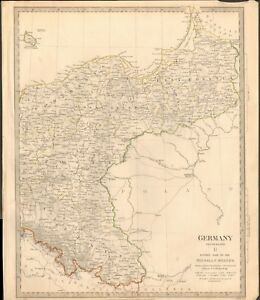 1832 Antique Map Sduk Germany Ii Eastern Part Of The Prussian States