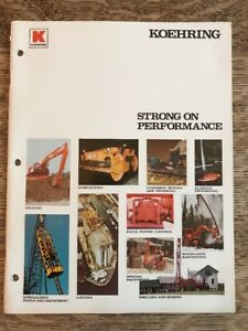 Vintage Koehring Parsons strong On Performance Brochure Digger Compactor Lift