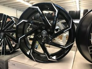 24 Inch Lexani Cyclone Rims And Tires Wheels Fit Chevy Gmc Escalade Infiniti