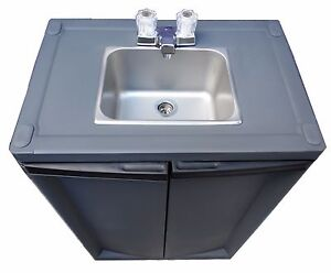 Portable Sink Hand Wash Sink Self Contained Sink Cold Water S s Dark Gray