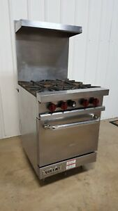 Vulcan V24 Natural Gas 4 Burner Range W Oven