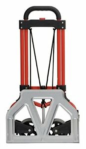 Magna Cart S rs Mci Personal Folding Steel Hand Truck Handy Travel Red silver