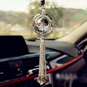 Car Rear View Mirror Pendant Crystal Car Hanging Ornament Car Interior Decor